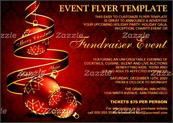 holiday fundraising event flyer