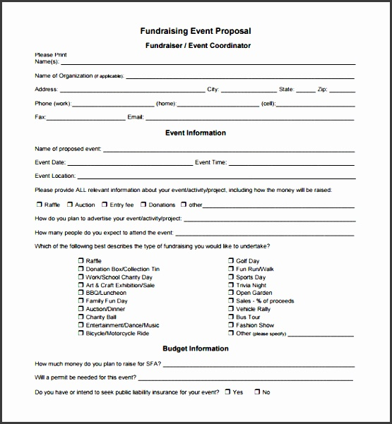 free fundraising event proposal pdf