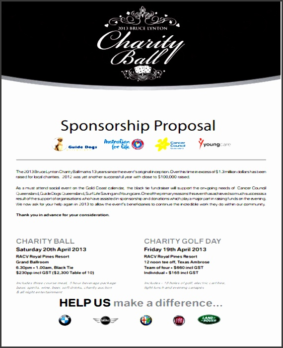 31 inspirational proposal templates for charity event twihot