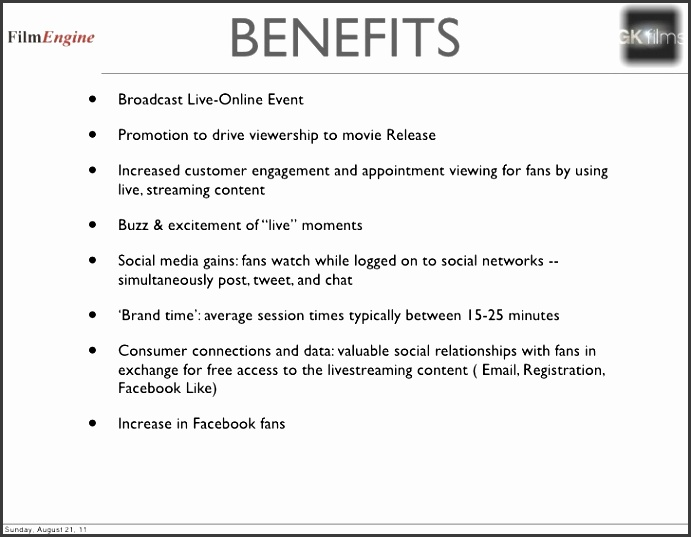 13 benefits broadcast live online event