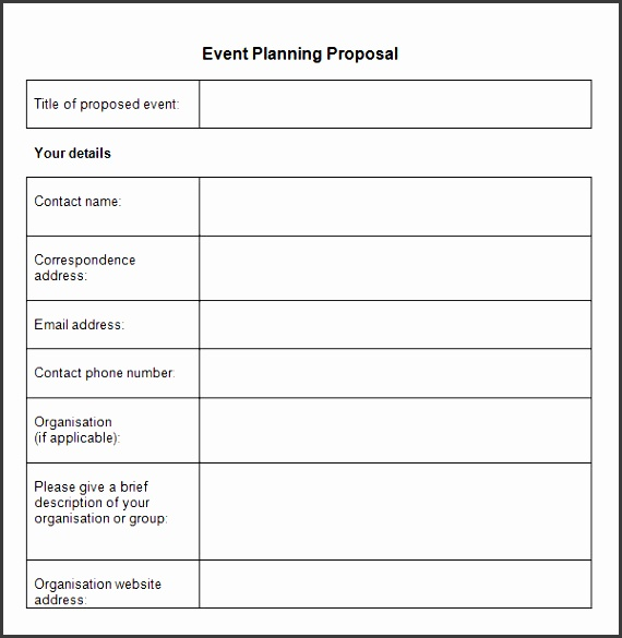event planning proposal printable pdf