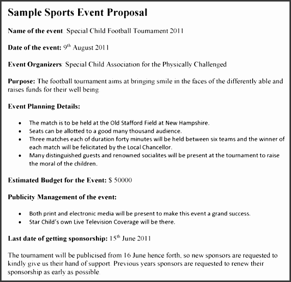 Sports Event Proposal Sports Event Proposal Template 600575  Event Proposal Samples