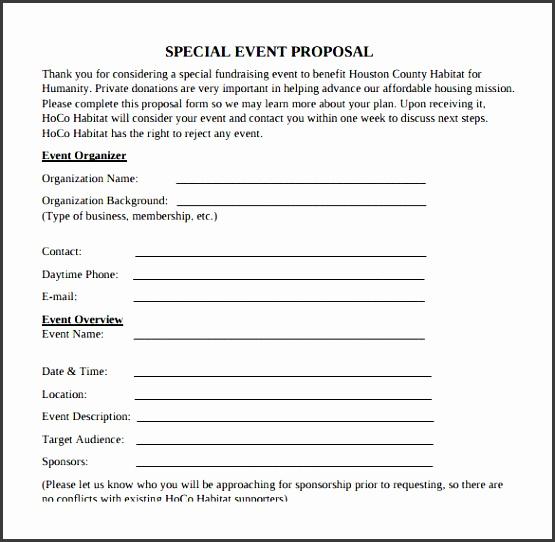7 Event Proposal Sample Templates Sampletemplatess