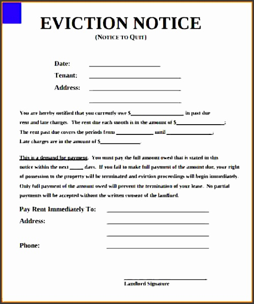 eviction notice formintable eviction notice form 1