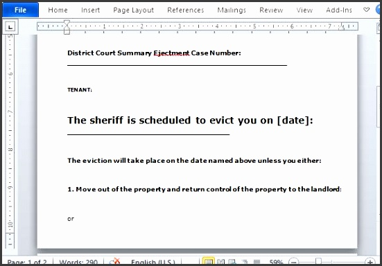 ensure that you follow the law with this eviction notice template