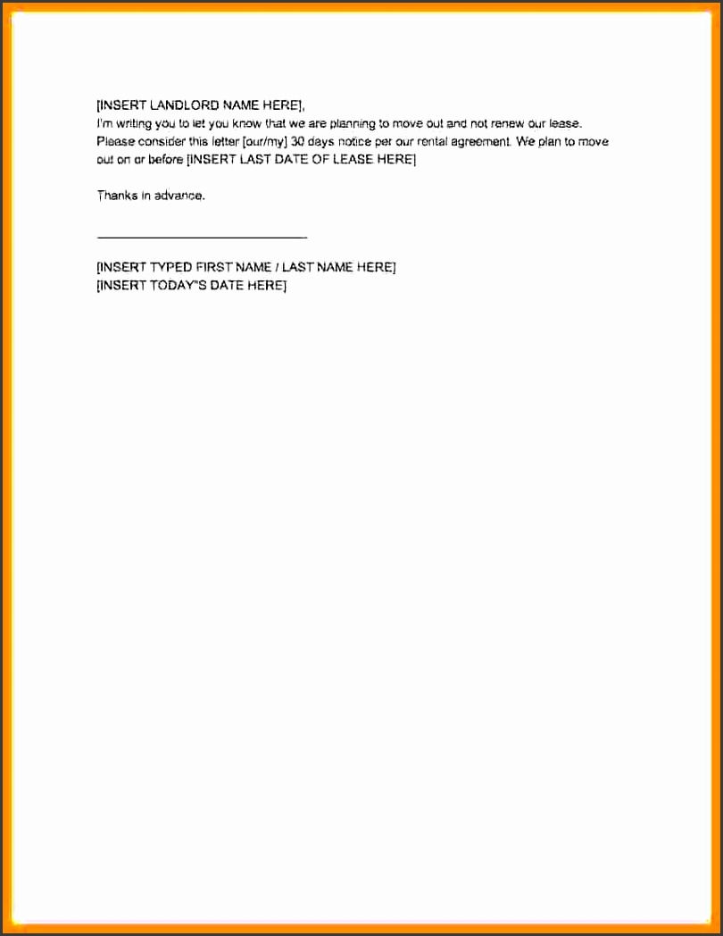 thirty day notice letter 30 day notice letter to vacate to print 10 30 day notice to landlord template loan application form with 30 day notice letter
