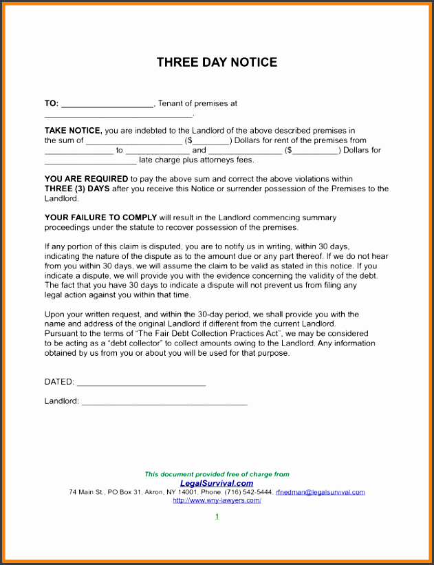 notice to quit template 15 sles exles format