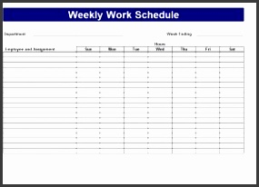 how to set up a daily schedule in excel your business track your hours with the printable work schedule template the spreadsheet tracks daily hours and