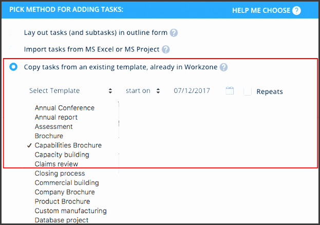 web based project management software product tour workzone