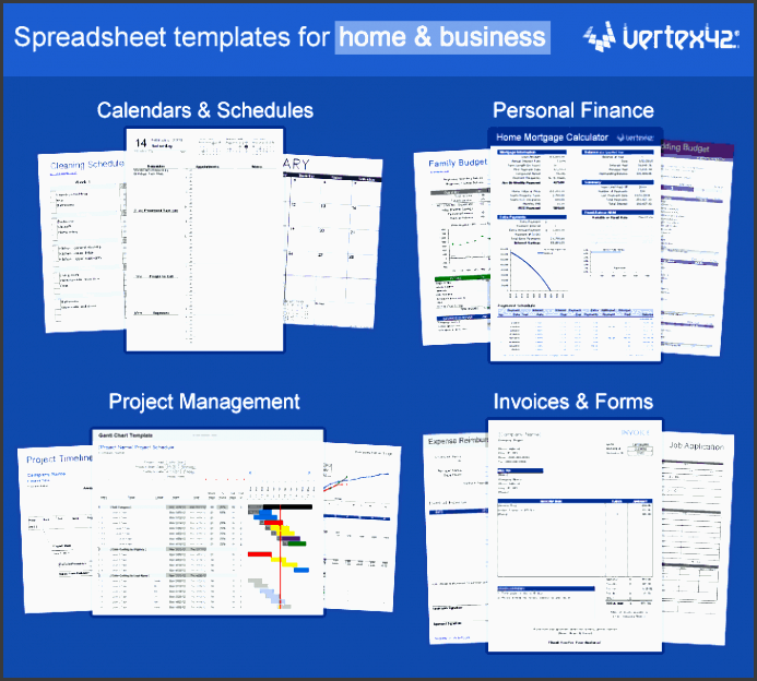 excel templates by vertex42