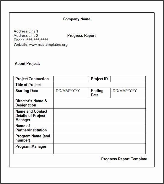 weekly status report format