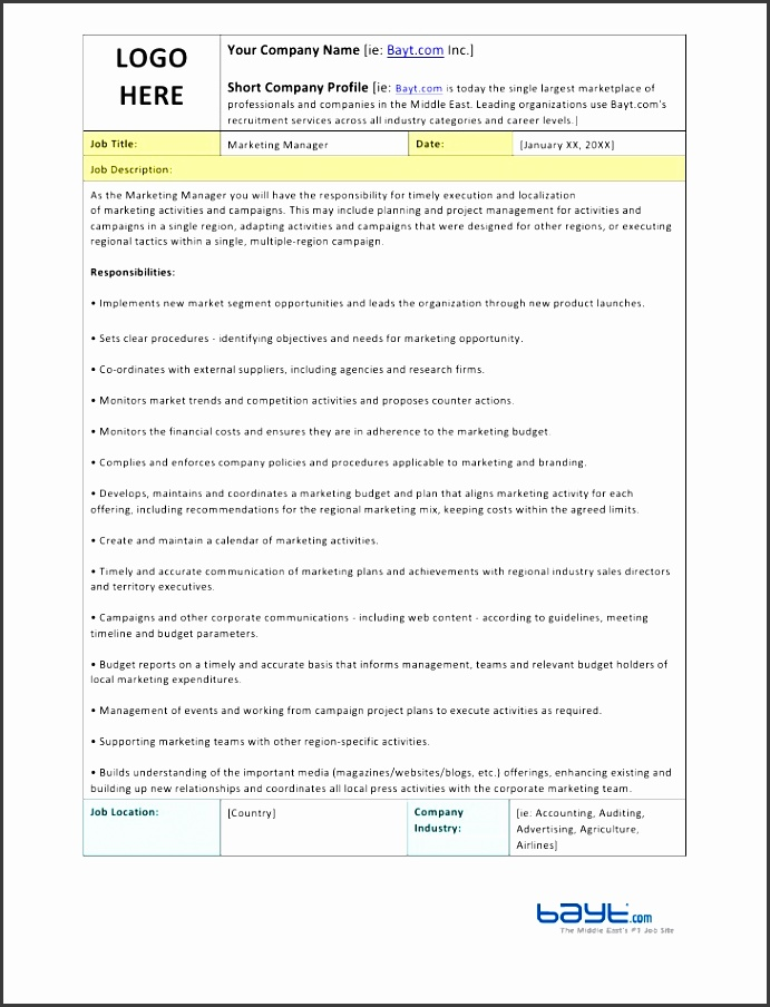 marketing manager job description template by bayt 1 728 cb