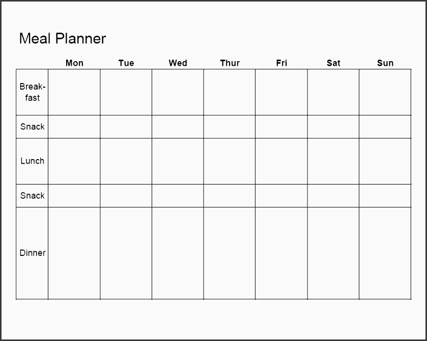 8 exercise planner template
