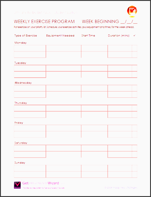 journal template exercise workout planner template