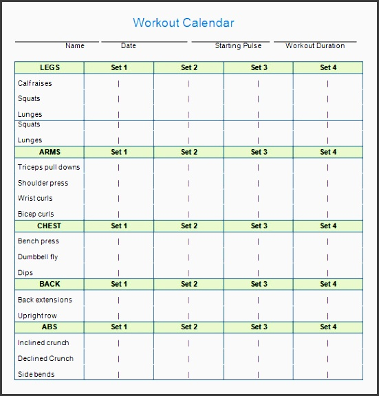 10 best images of workout calendar template monthly exercise