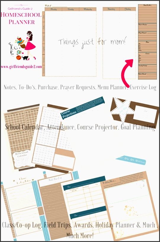 girlfriend s guide 2 homeschool planning by terabaredesigns the perfect printable planner print only the