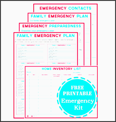 printable emergency planning kit