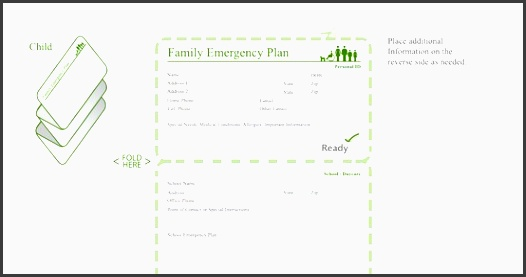 family emergency plan child emergency contacts card just the pdf and fill out