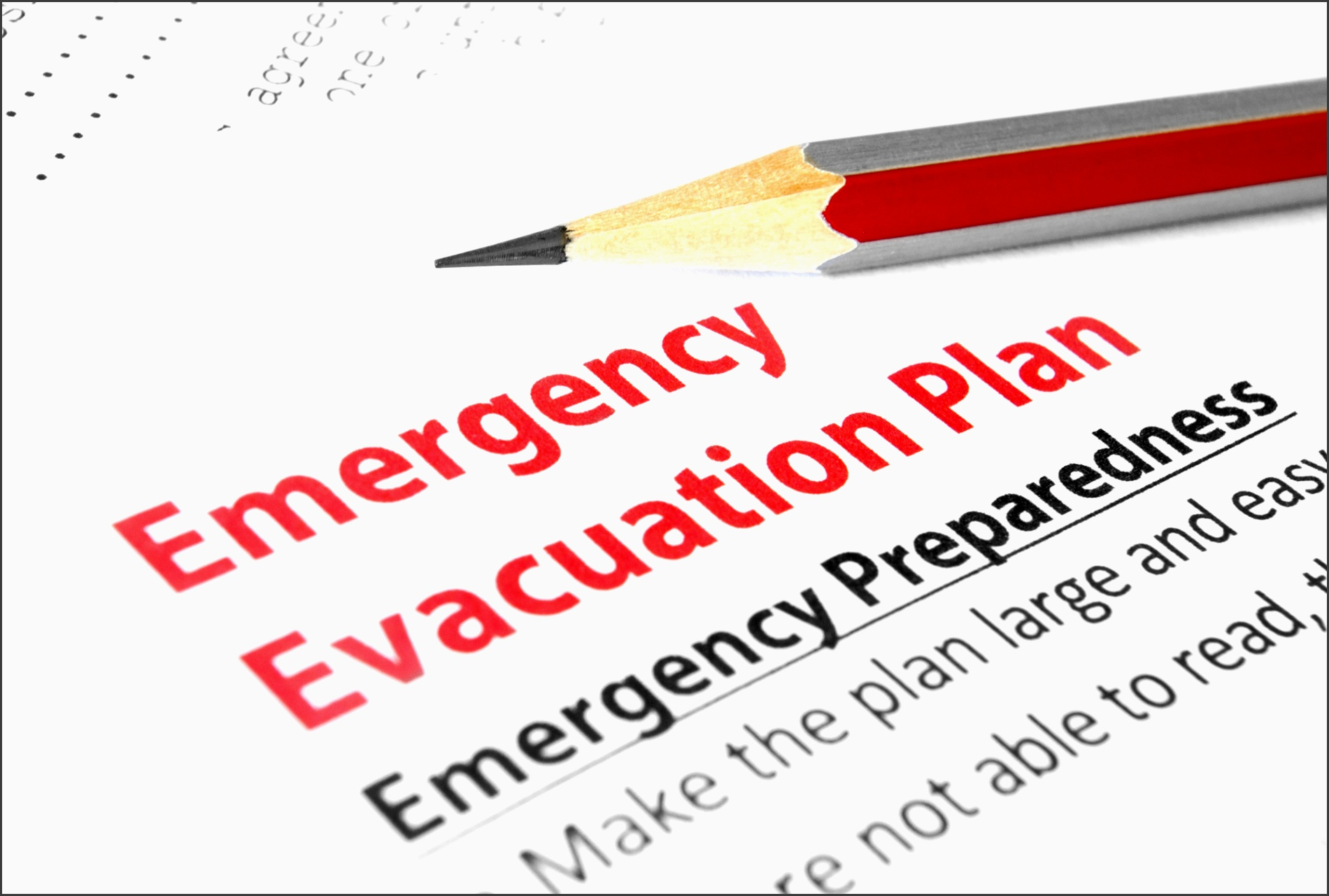 paper labeled emergency evacuation plan