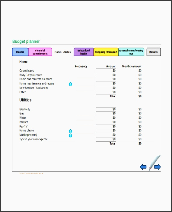 excel monthly bud template 18 free excel document s