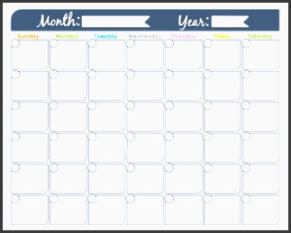 monthly calendar printable undated editable family calendar household binder planner pages