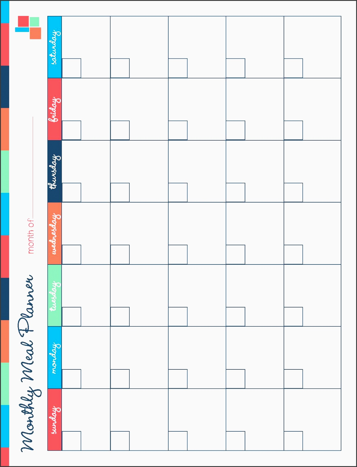 free printable meal planner kitchen set meal planning calendarfamily