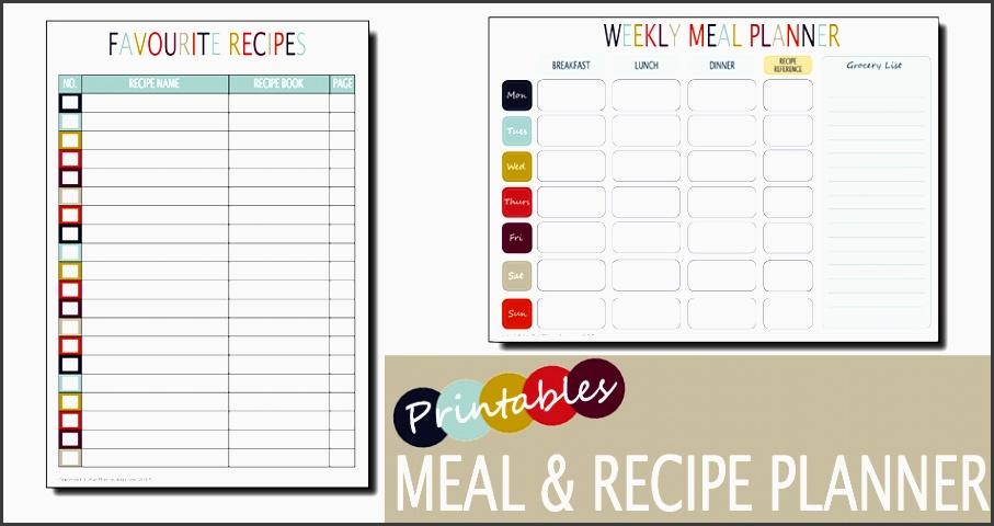 weekly meal planner recipe planner