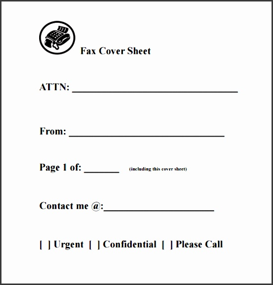 fax cover sheet template 9