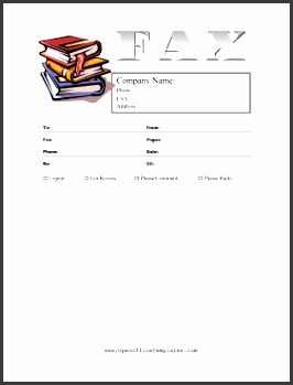 books fax cover sheet