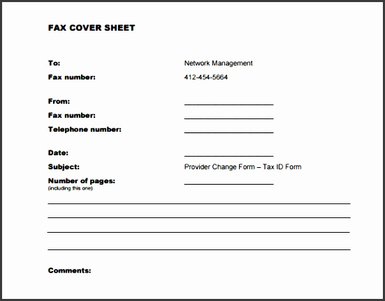 blank confidential fax cover sheet