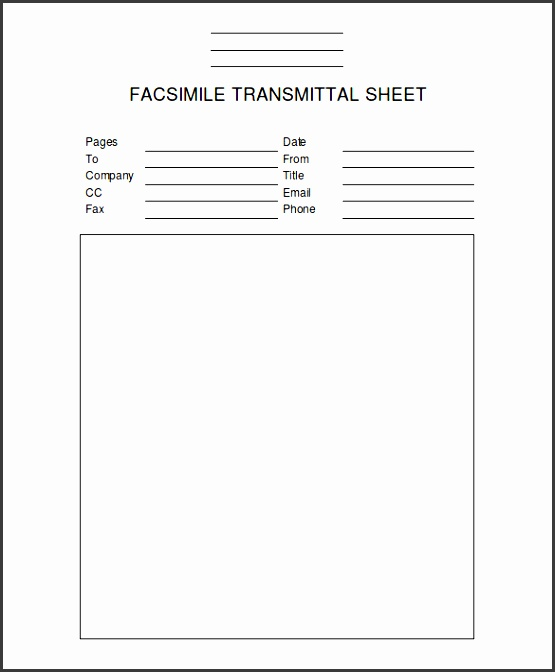 blank professional fax template ms word