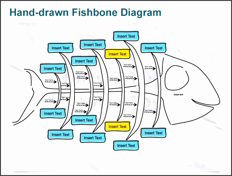 editable ppt templates hand sketches fishbone diagram graphic