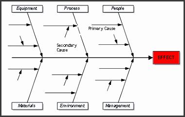 ishikawa fish bone or cause and effect diagram