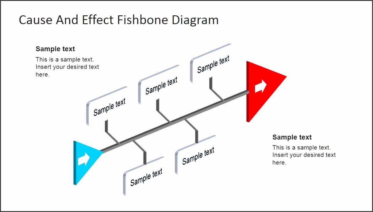 fishbone diagram powerpoint 3d perspective fishbone diagram template