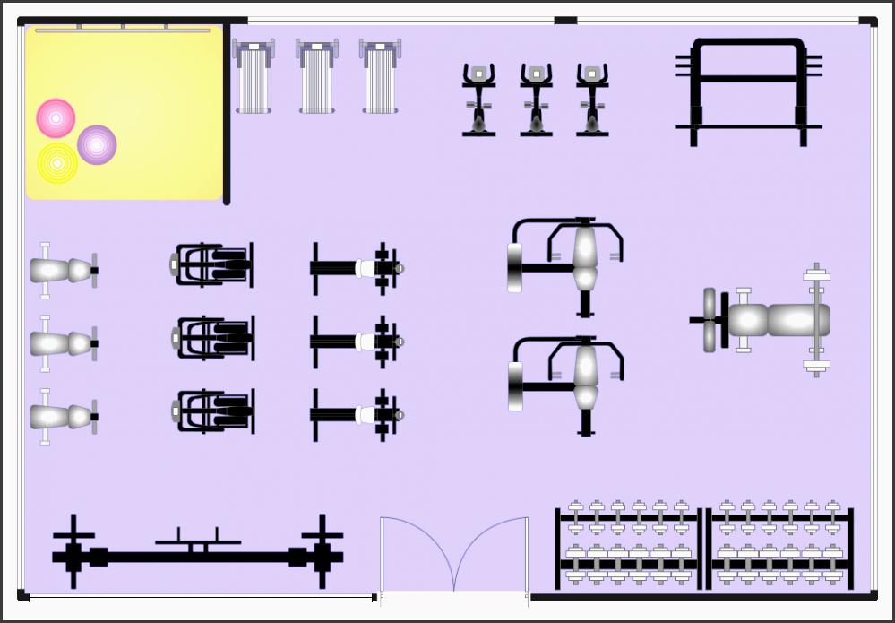 5 fitness plan maker sampletemplatess sampletemplatess for Salon floor plan maker