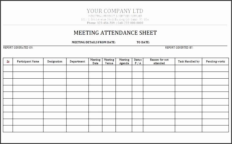 attendance sheet 05