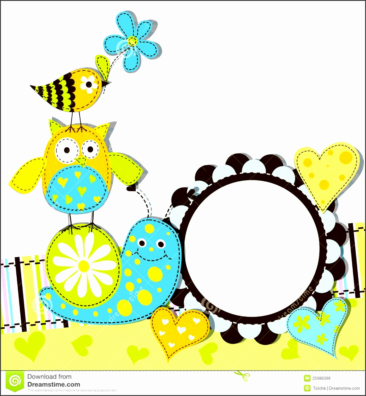 card invitation design ideas free greeting card templates square blue yellow owl bird snail and