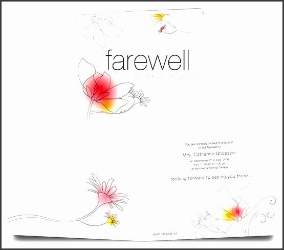 farewell card invite template free