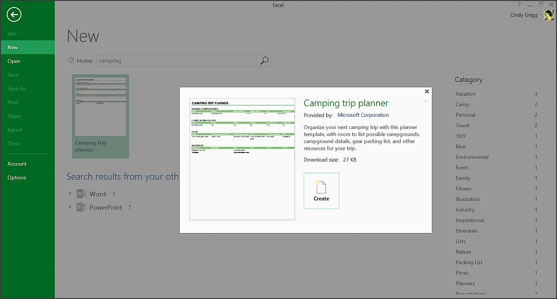 camping trip planner template for microsoft excel 58b8bb7f5f9b58af5c b