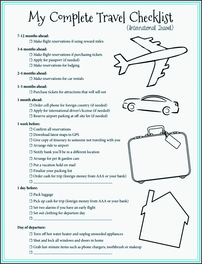 free printable checklist for all of your travel needs how to plan a trip