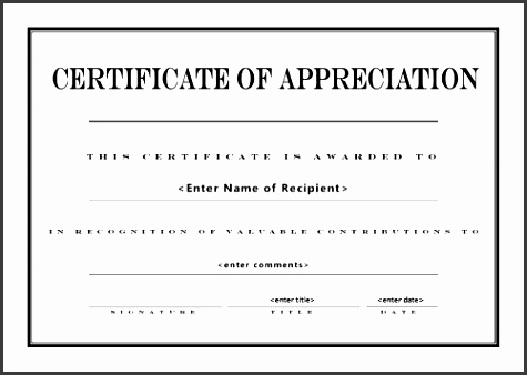 appreciation certificate templates free free printable certificates of appreciation free