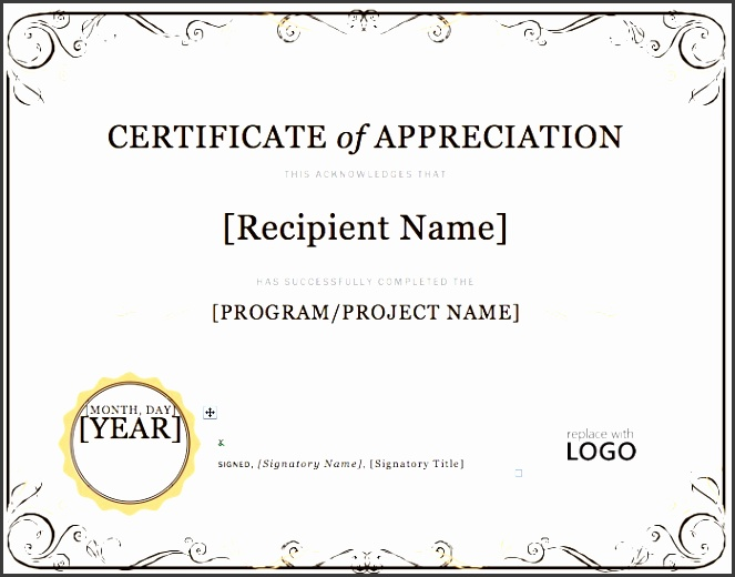 search results for free certificate of appreciation template 2017