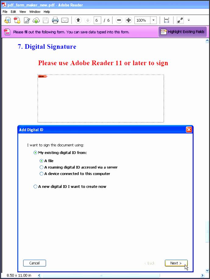 form maker digital signature