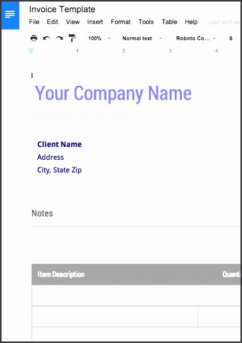 free blank invoice template google docs