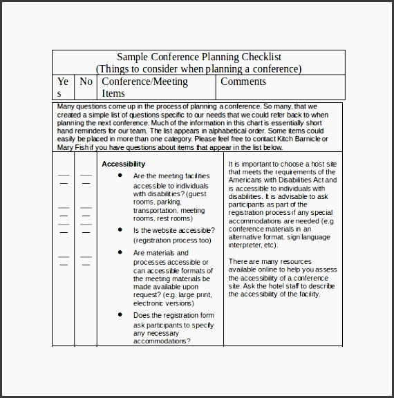 conference planning template doc