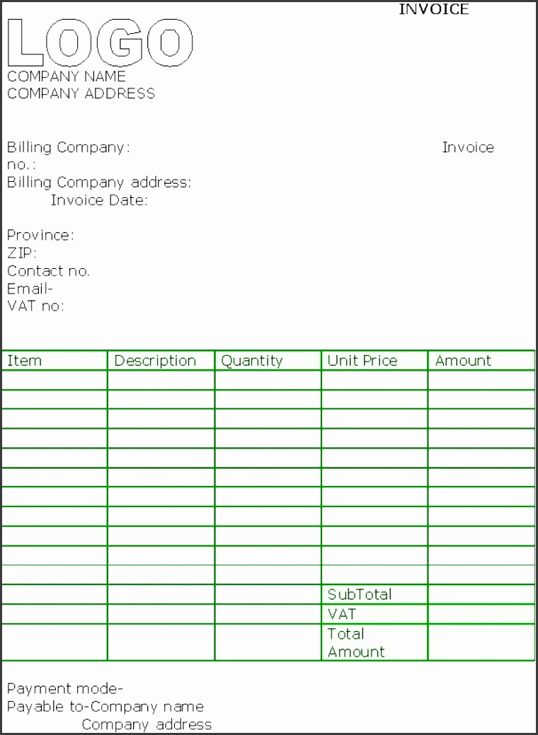 5+ Free Contractor Invoice Template In Excel ...