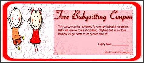 babysitting coupon template free