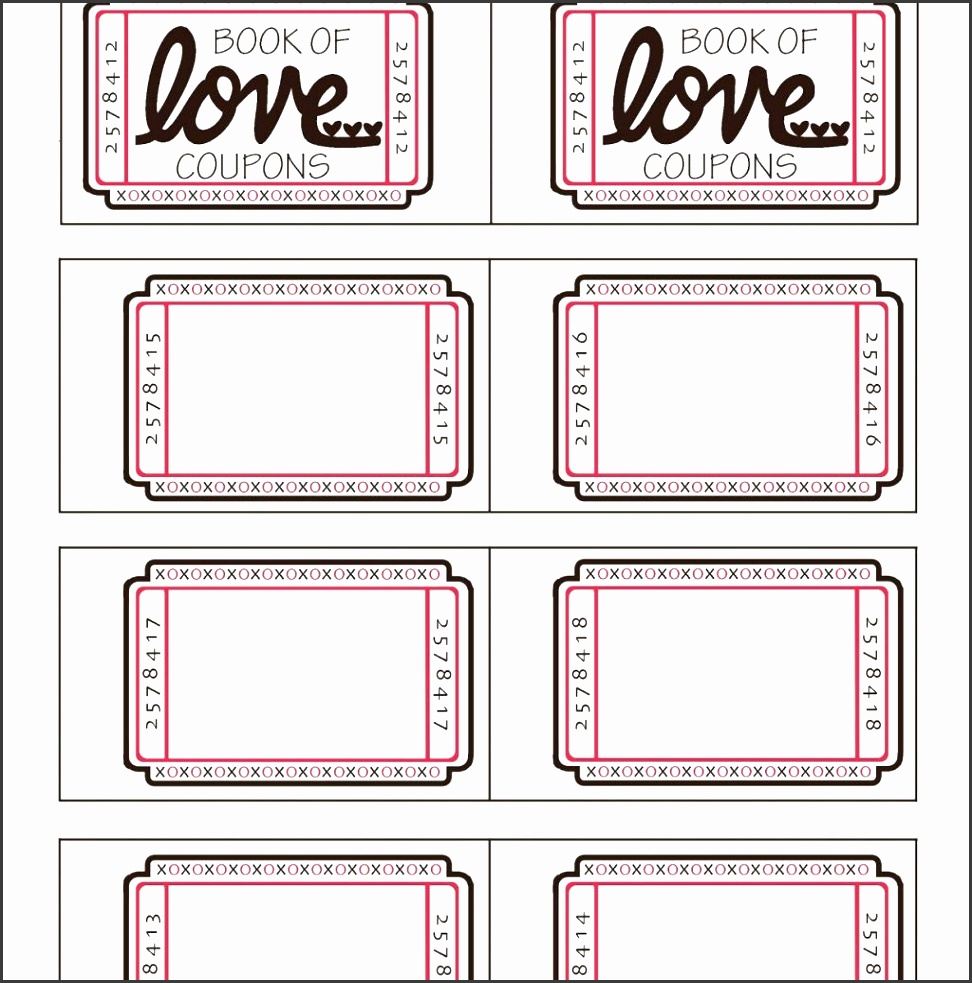 printable coupon templates free sample of certificate of mommyday crafternight free printable valentine coupon book throughout