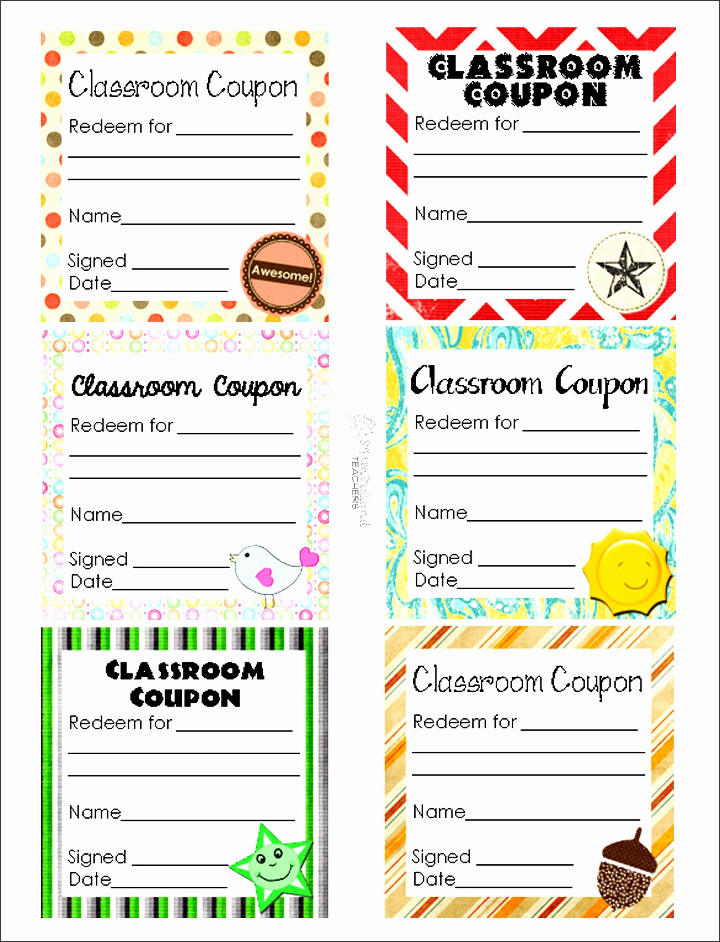 classroom coupon sheet 1