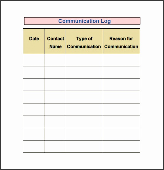 daily activities log template excel sample log template documents in pdf word excel